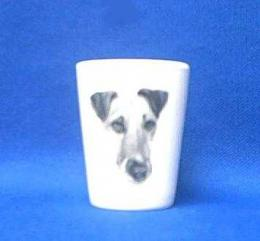 smooth fox terrier shot glass