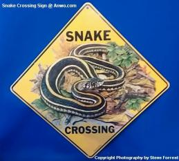 snake crossing sign anwo
