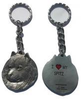 spitz keychain pewter usa