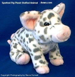 spotted pig plush stuffed animal