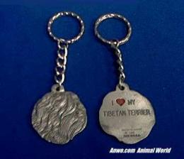 tibetan terrier keychain pewter usa