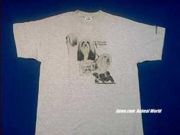 tibetan terrier t shirt ash