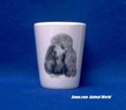 toy poodle shot glass