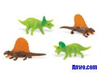 triceratops dimetrodons toy mini good luck