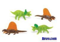 triceratops dimetrodons toy mini good luck