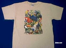 tropical birds shirt adult and youth sizes