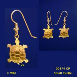 turtle earrings gold