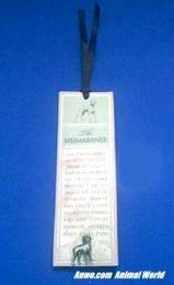 weimaraner bookmark pewter pin