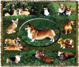 welsh corgi blanket throw tapestry