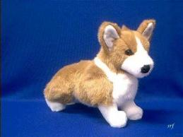 sable welsh corgi plush stuffed animal toy