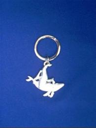 whale keychain pewter