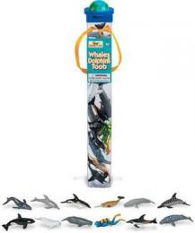 whales dolphins toy tube assortment
