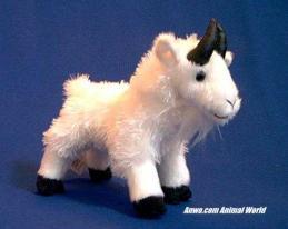 white mountain goat plush stuffed animal small