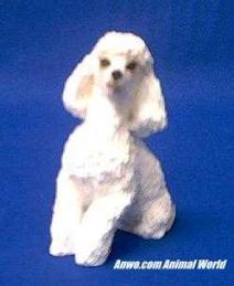 white poodle figurine sandicast ss12101