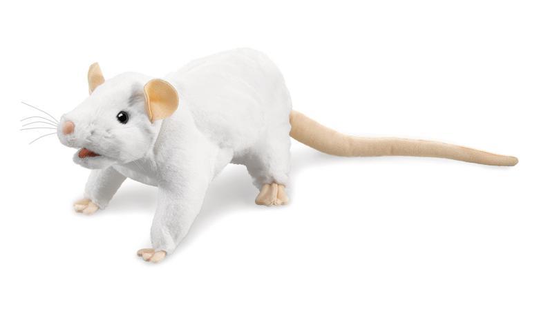 White Rat Puppet Plush