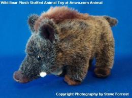 wild boar pig plush stuffed animal toy