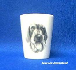 wire haired dachshund shot glass