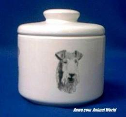 wirehair fox terrier jar porcelain