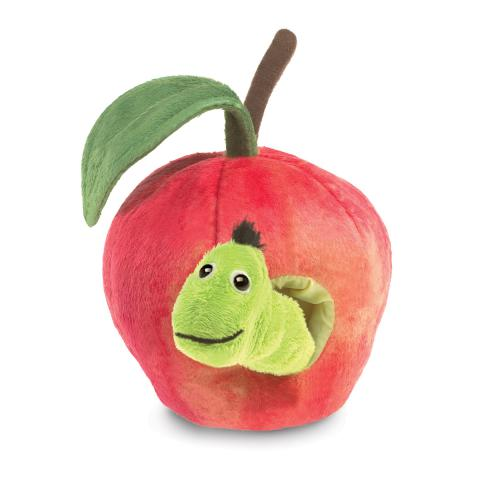 Worm in Apple Finger Puppet