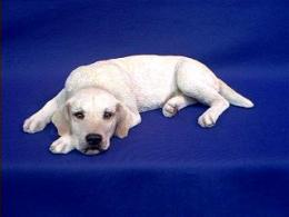 yellow lab sandicast figurine