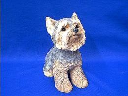 yorkie sandicast figurine