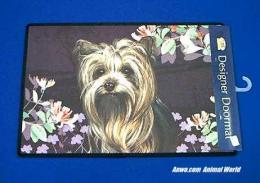 yorkshire terrier yorkie doormat welcome mat