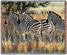 zebra blanket throw tapestry zebras