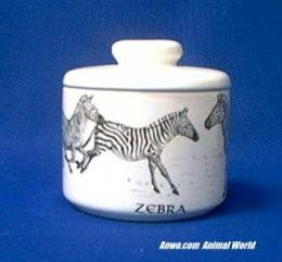 zebra jar porcelain