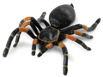 tarantula spider toy replica orange kneed