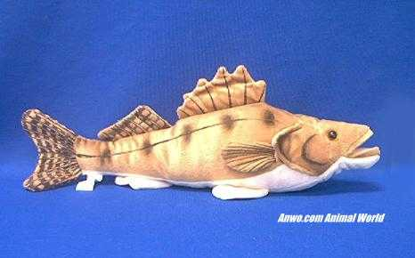 Walleye Plush Stuffed Animal Fish Toy at Animal World®.