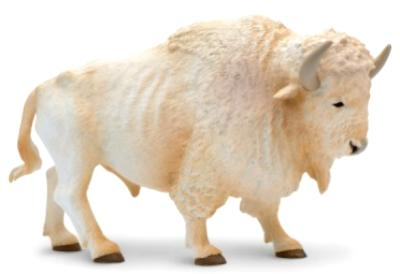 White Buffalo Toy Miniature Replica At Anwo Animal World