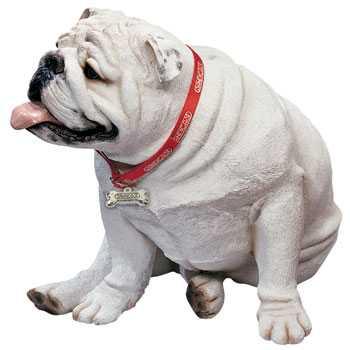 White Bulldog Sandicast Lifesize Figurine Ls915 At Animal World