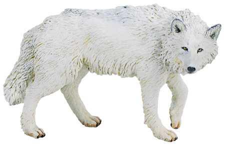 Wolf Toy White Wolf Miniature at Anwo.com Animal World®